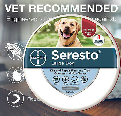 Bayer Seresto Flea and Tick Collar for large Dog 8 Months Protection Treatment