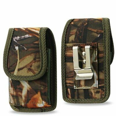 Camouflage Rugged Metal Clip Case fits Tracfone Alcatel Myflip A405DL
