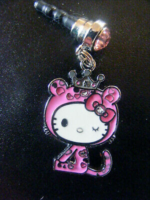 Hello Kitty Pink Princess cell phone dust cover Plug