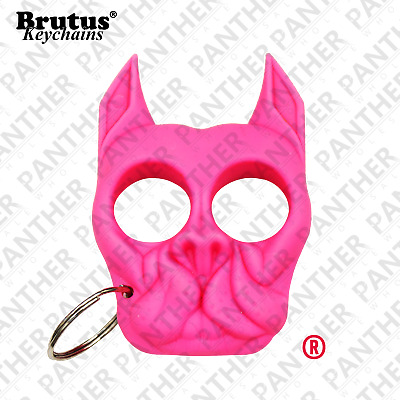 Brutus Self Defense Keychain Personal Security Safety Keychain Hot Pink