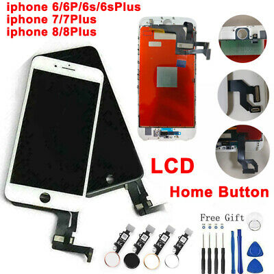 For iPhone 6 6s 7 8 Plus LCD Display Assembly Digitizer Replacement -home button
