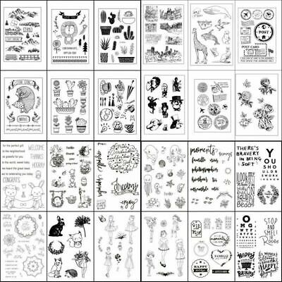 Transparent Clear Silicone Rubber Stamp Cling Diary Scrapbooking Card DIY Decors