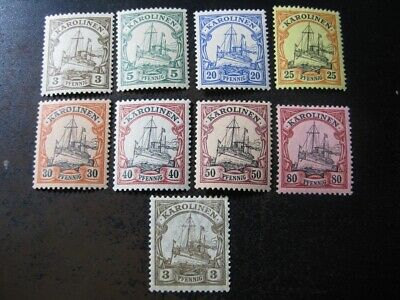 KAROLINEN GERMAN COLONY valuable mint stamp collection w Kaiser Yachts