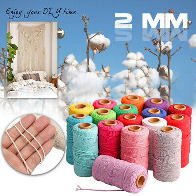 100m Long100Yard Pure Cotton Twisted Cord Rope Crafts Macrame Artisan String