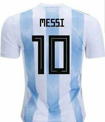 Argentina Home Messi Regular FIt Jersey Messi World Cup