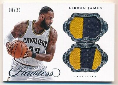 LEBRON JAMES 201617 PANINI FLAWLESS DUAL CAVALIERS 2 COLOR PATCH SP 0823 400