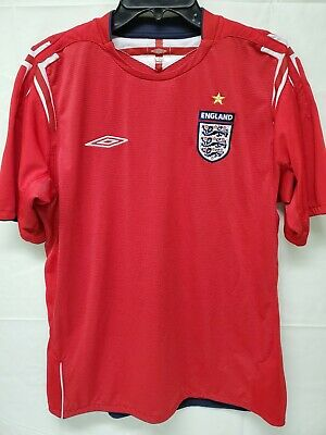 Official Umbro England 2004-2006 Soccer World Cup Jersey Mens Size Large