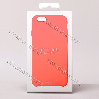 Original Apple Leather Snap Cover Case For iPhone 6 iPhone 6s - Red