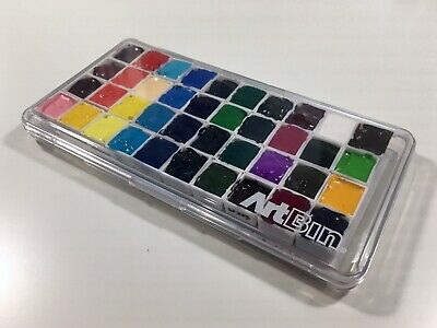 Holbein Watercolor Set 40 Half-Pan Lot -  Magnetic Case Professional HWC Paint