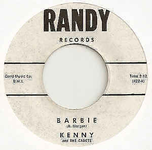 Kenny and The Cadets - Barbie US Randy Records 422 7 Vinyl Single