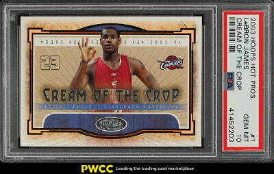 2003 Hoops Hot Prospects Cream Of Crop LeBron James ROOKIE RC 1 PSA 10 PWCC