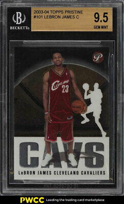 2003 Topps Pristine LeBron James ROOKIE RC 101 BGS 9-5 GEM MINT PWCC