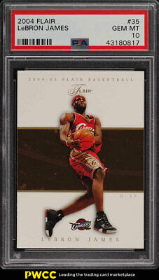 2004 Flair Basketball LeBron James 35 PSA 10 GEM MINT PWCC