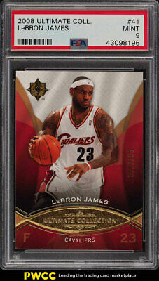 2008 Ultimate Collection LeBron James 499 41 PSA 9 MINT PWCC