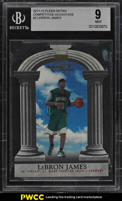 2011 Fleer Retro Competitive Advantage Die-Cut LeBron James 3 BGS 9 MINT PWCC