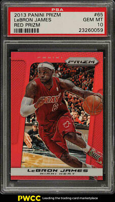 2013 Panini Prizm Red Prizms LeBron James 65 PSA 10 GEM MINT PWCC