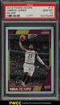 2016 Panini Hoops Silver LeBron James 99 17 PSA 10 GEM MINT PWCC