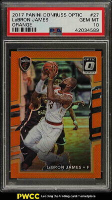2017 Donruss Optic Orange LeBron James 199 27 PSA 10 GEM MINT PWCC