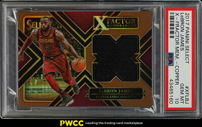 2017 Select X-Factor Memorabilia Copper LeBron James PATCH 49 PSA 10 GEM PWCC