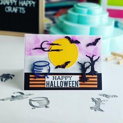 Halloween Decoration Castle Metal Cutting Dies DIY Craft Embossing Scrapbooking