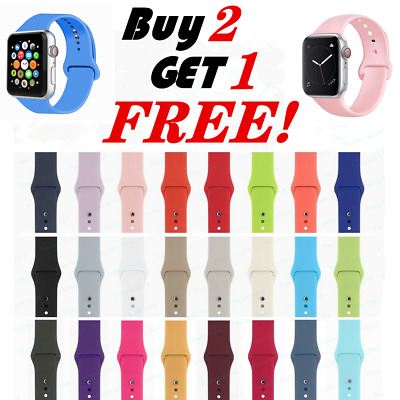 Silicone Band Strap For Apple Watch 1234 iWatch Sports Series 38424044mm