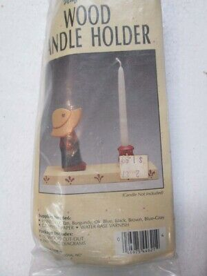 Unfinished Wood Candle Holder kit by Wangs International