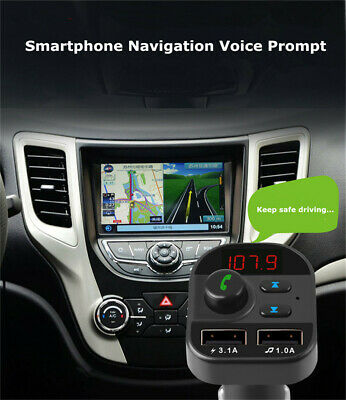 Universal Dual USB Charger Bluetooth5-0 Audio FM Transmitter for Car Phone Truck
