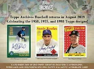 2019 Topps Archives Complete Your Set 101-2001975 Buy 5 Get 2 Free No Limit