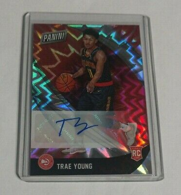 R17976 - TRAE YOUNG - 2018 PANINI BLACK FRIDAY - ROOKIE AUTOGRAPH - SP - HAWKS