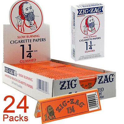 Zig-Zag Orange 1¼ Cigarette Rolling Papers Full Box 24x Booklets 32 Leaves