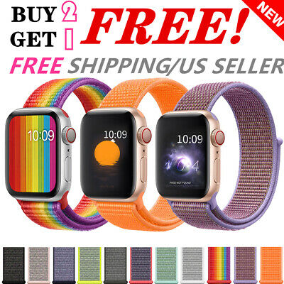 Woven Nylon Band For Apple Watch 38424044mm Sport Loop iWatch Series 4321