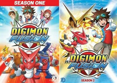 DIGIMON FUSION COMPLETE TV SERIES BOTH SEASONS New Sealed DVD 1 - 2