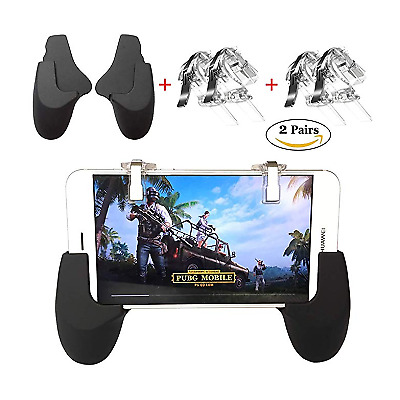 Mobile Gaming Controller Cellphone Triggers Keys PUBG Fortnite iphone android