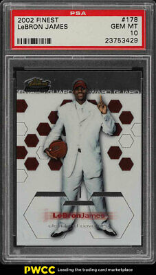 2002 Finest Basketball LeBron James ROOKIE RC 178 PSA 10 GEM MINT PWCC