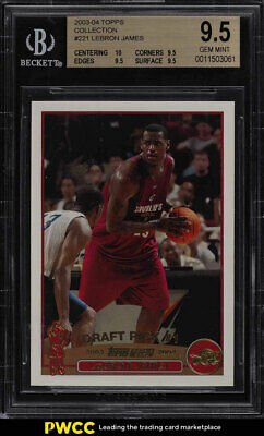 2003 Topps Collection LeBron James ROOKIE RC 221 BGS 9-5 GEM MINT PWCC