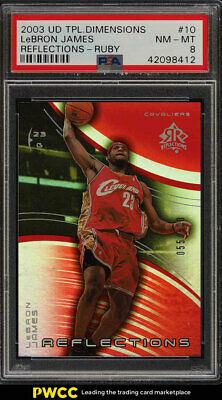 2003 UD Triple Dimensions Reflections Ruby LeBron James ROOKIE 500 PSA 8 PWCC