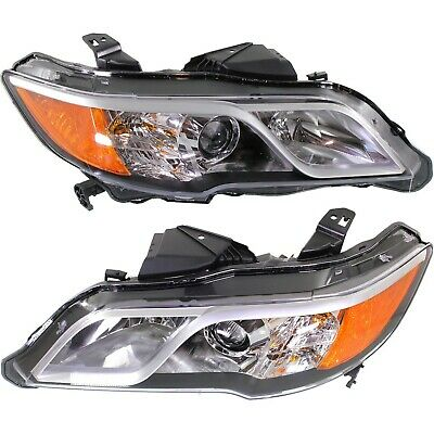 Headlight Set For 2013 2014 2015 2016 Acura RDX Left and Right With Bulb 2Pc