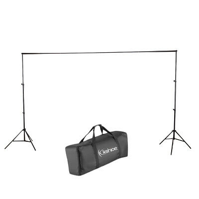 3M10FT Adjustable Background Crossbar Kit Support Stand Photography Backdrop