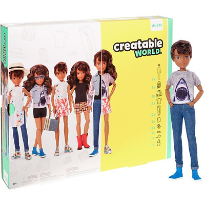 Creatable World Deluxe Character Kit Customizable Doll Brunette Hair dc-826