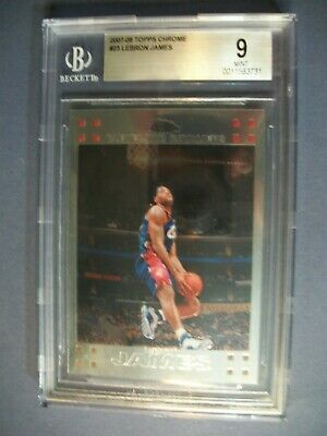 LEBRON JAMES 2007-08 Topps Chrome 23 BGS MINT 9 Cavaliers Lakers