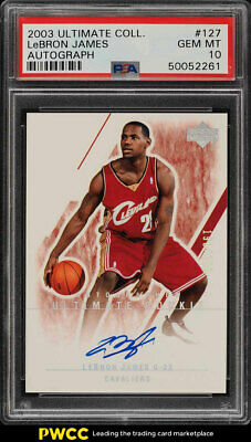 2003 Ultimate Collection LeBron James ROOKIE RC AUTO 250 127 PSA 10 GEM PWCC