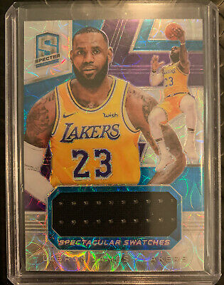 2018-19 Panini Spectra Lebron James - 2849 Spectacular Swatches Patch - Lakers