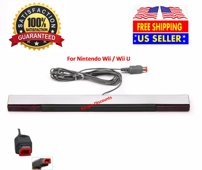 Wired Remote Motion Sensor Bar IR Infrared Ray Inductor for Nintendo Wii  Wii U