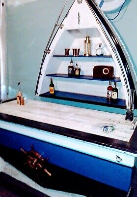 Custom Mobile Chris Craft Boat Bar portable home One-Of-A-Kind Rustic Hand Made
