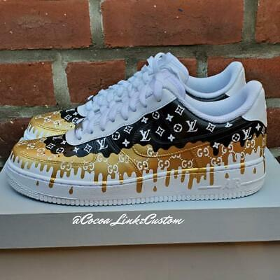 Custom Nike Air force 1 Double Drip Cyber Monday Sale 20 Off