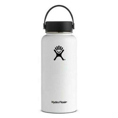 Hydro Flask 32oz- Wide Mouth Water Bottle - White