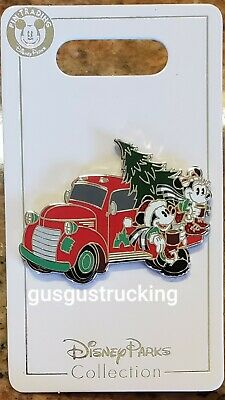 New Disney Parks 2019 Christmas Mickey - Minnie Holiday Truck Open Edition Pin