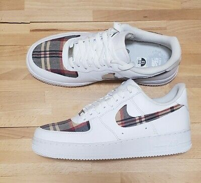 Custom Air Force 1 Plaid Sneakers  Trainers Cyber Monday Sale limited time only