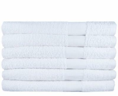12 Pack of Salon Towels 16x27 White Cotton Towel Beauty Gym Spa Wholesale Use