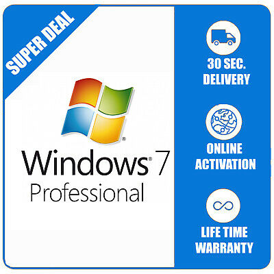 Windows 7 Pro Professional 3264bit - Multilanguage - Shipping 30 Seconds